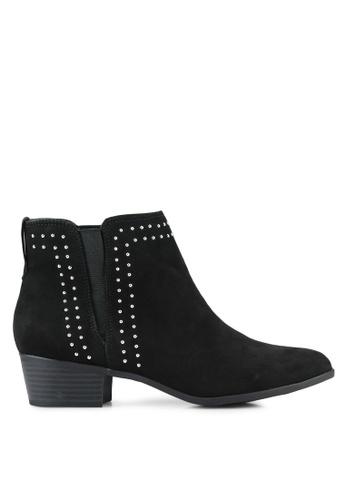 Dorothy Perkins black Black Mila Stud Ankle Boots DO816SH0RSPAMY_1