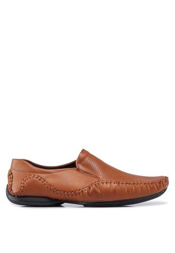Rocklander 褐色 縫線細節樂福鞋 0D7D0SH0224F7CGS_1