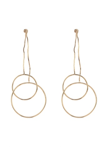 Saturation Gold Duo Circle Drop Earrings 7f792ac2927428gs 1