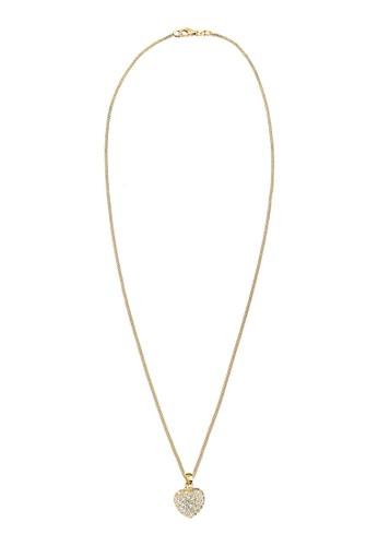 925esprit 高雄 心形施華洛奇晶鑽墜飾項鍊, 飾品配件, 項鍊
