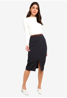 61bc3c395f 50% OFF Dorothy Perkins Double Stripe Pencil Skirt S$ 69.90 NOW S$ 34.90  Sizes 6 10 12 14 16