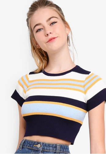 6143f22133a Buy Something Borrowed Knit Crop Top Online on ZALORA Singapore