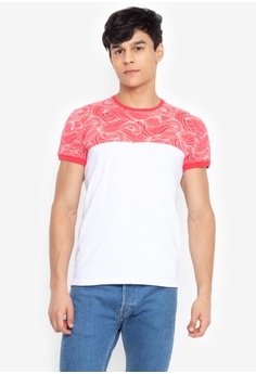5ffc67de Urban Edge Clothing red Round Neck Combi Shirt with print 63C69AA10AC022GS_1