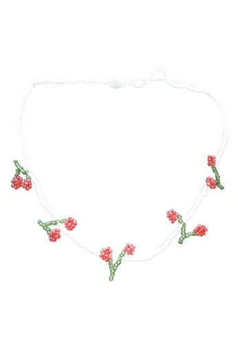 Pieces white Mannie Necklace AFDC5AC6C77714GS_1