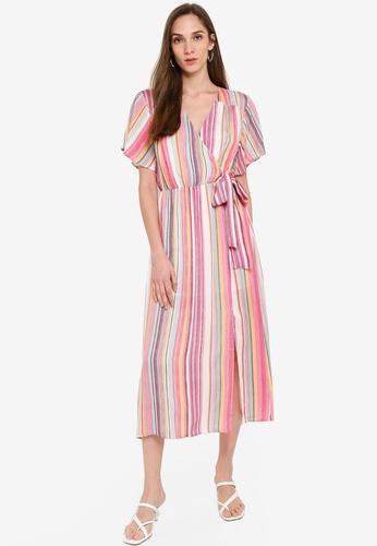 Mink Pink multi Kita Stripe Midi Dress 34F2CAAF11231CGS_1