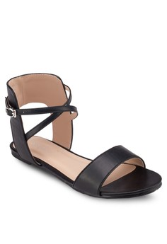Strappy Ankle Cuff Flat Sandal