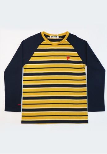 Osella Kids yellow Osella Baju Anak Laki Laki Tshirt Stripe Kuning E3751KA7EF4F0DGS_1