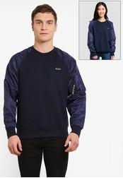 Nicce London navy Ma-1 Sweatshirt NI146AA0SBJOMY_1