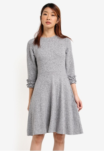 Dorothy Perkins grey Light Fit And Flare Dress DO816AA0SRDOMY_1