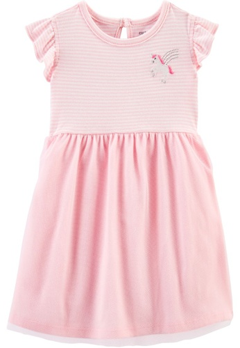 Carter's pink CARTER'S GirlPink Unicorn Jersey Tutu Dress D3353KACA9FC5EGS_1