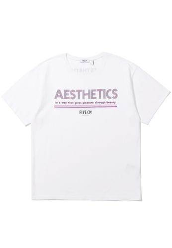 "Fivecm white ""AESTHETICS"" tee BA540AA720DFFEGS_1"