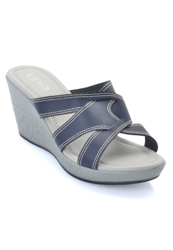 LENO blue Purelsy Wedge Sandal (LS36581) LE122SH21ALYMY_1