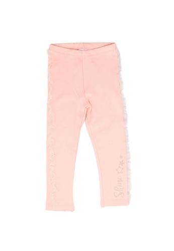 LC Waikiki pink Lace Trim Tights E107CKA068B852GS_1