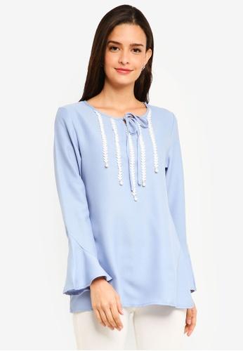 BYN blue Muslimah Blouse D53D3AA7D7F1C8GS_1