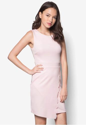 Diane 裹飾扇貝無袖esprit 澳門洋裝, 服飾, 絕美洋裝