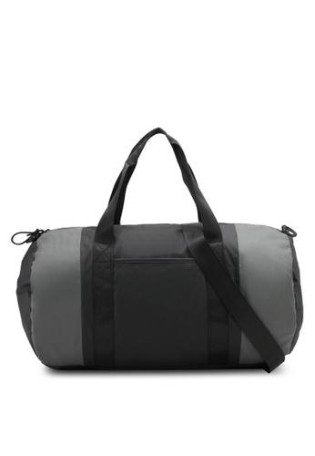 JAXON black and grey Soft Casual Weekend Bag 873F4ZZDC9B87BGS_1