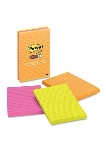 Post-IT 3M Post It Super Sticky Noted Rio de Janeiro 4X6IN 90SHTS 660-3SSUC D2D6FHLCBFE4E2GS_1