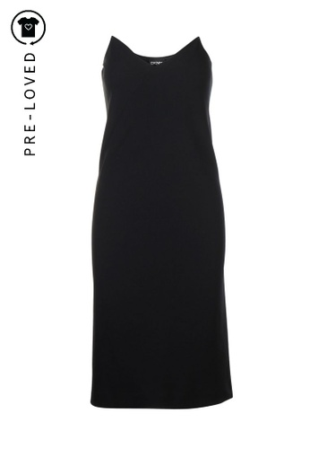 Dkny black Pre-Loved dkny Black Dress With Transparent Spaghetti Straps CEA56AAE9A0620GS_1