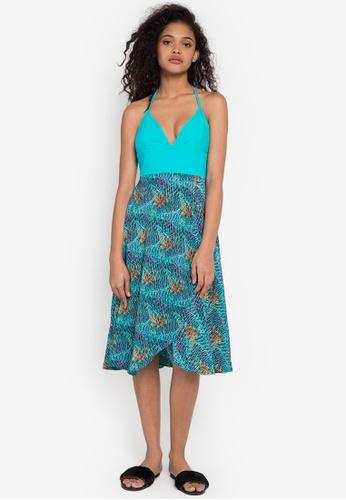 La Playa blue Daze Print Maxi Dress LA383AA0KNMJPH_1