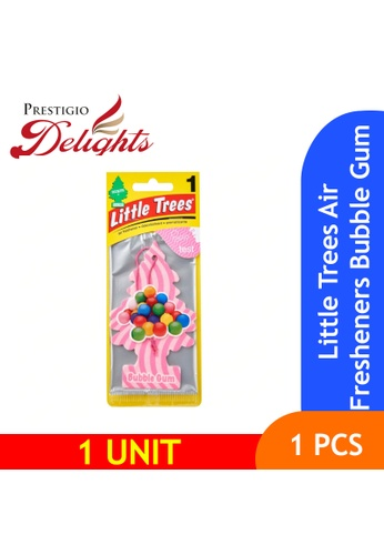 Prestigio Delights white and pink and multi Little Trees Air Fresheners Bubble Gum 51D07ES0A0B7D8GS_1