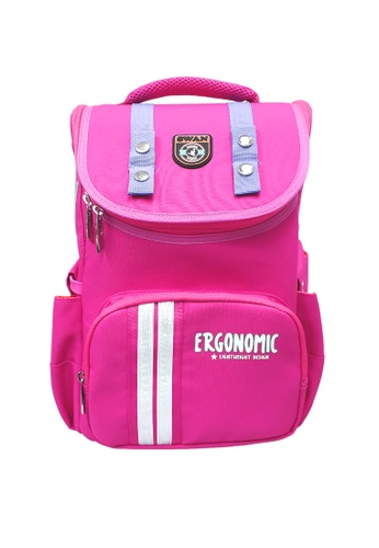 Swan pink Swan Kid Children SMART LITE  S/Bag With Free Pencil Box (Pink) Spinal Protection Back Support C2FCEKC5CE05B5GS_1
