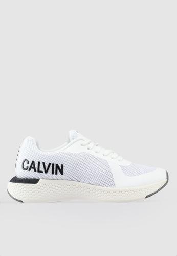 Calvin Klein 白色 LOGO印花運動鞋 84264SH8579243GS_1
