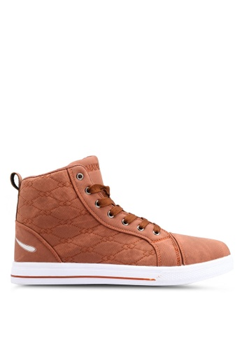 Rocklander brown Matarazo Hi-Top Sneakers 7E3B8SH63C9861GS_1