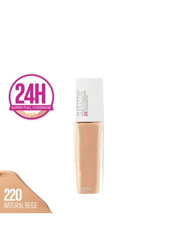 Maybelline beige Super Stay 24H Full Coverage Foundation - 220 Natural Beige B2537BE13A4AB3GS_1