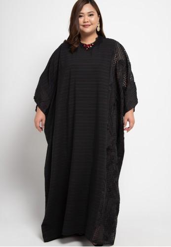 LUIRE by Raden Sirait black Plus Size MS Kaftan Cetar ISB B30BDAAE186A2FGS_1
