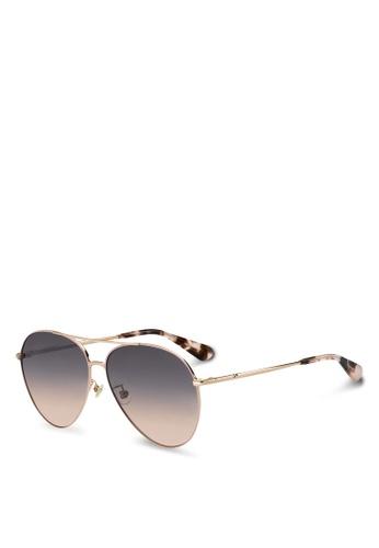 Kate Spade gold Carolane/F/S Sunglasses 7A1F2GL8DE2C7BGS_1