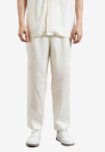 Urban Revivo white Pleated Trousers 34468AA55F1E45GS_1