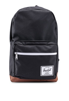 5f56ff21b3843 Herschel black and brown Pop Quiz Backpack 7F09BACC26061EGS 1