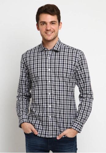 Crow black and white CROW Matsu checkered shirt slim fit DCBA9AAC6706E5GS_1
