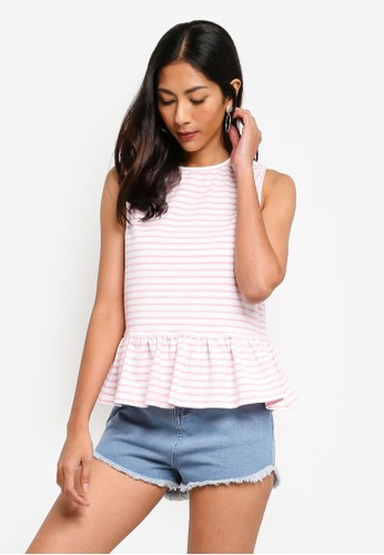 ZALORA BASICS multi Basic Short Sleeves Peplum Top 91FBFAA69512DFGS_1