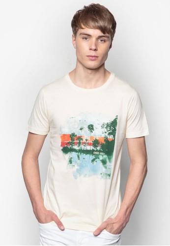 圖案棉質T 恤, 服飾, esprit taiwan印圖T恤
