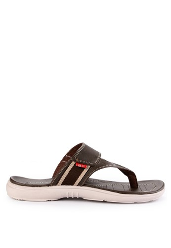 CARVIL multi and brown Carvil Sandal Casual Man Blanco-01 Dark Brown 1CEB3SH36EC9D3GS_1