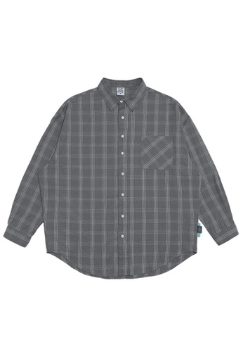 Twenty Eight Shoes Oversize Plaid Shirt 2088W20 1F570AA826FFE8GS_1