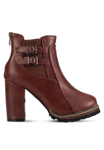 Sunnydaysweety brown 2018 New Buckle High Heel Ankle Boot RA101211BW 0BCE5SH19095E8GS_1