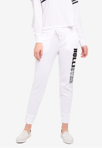 Hollister white Street Logo Joggers 80C09AA4582597GS_1