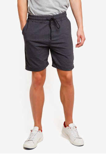 UniqTee multi and grey Pull On Shorts With Side Stripe C6230AA5C0486CGS_1