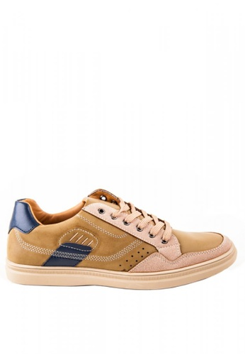 Otto beige Contrast Sneakers OT407SH0KKEFPH_1