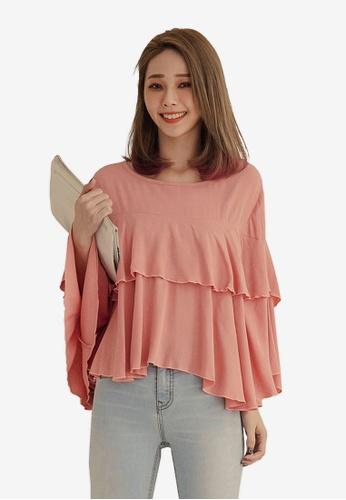 55314df4d0786 Shop Tokichoi Ruffled Long Sleeve Blouse Online on ZALORA Philippines