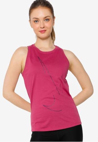 Nike pink Yoga Dri-Fit Tank Top 322FAAA3F1FF33GS_1