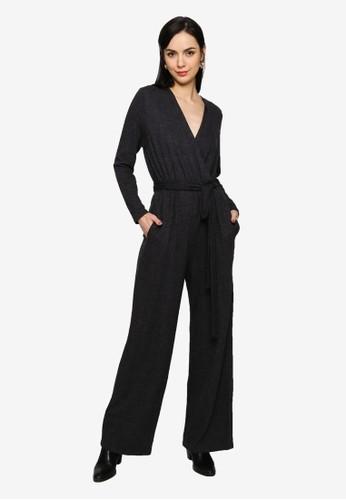 Mango grey Cotton Long Jumpsuit 668F8AACE50410GS_1