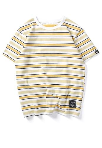 HAPPY FRIDAYS 寬鬆撞色條紋短袖T恤 UP737 8946EAAEF62A8DGS_1