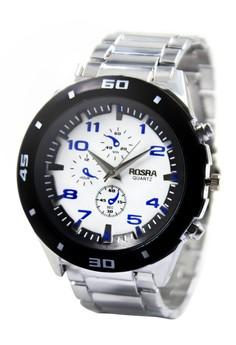 Rosra Edson Unisex Stainless Steel Strap Watch