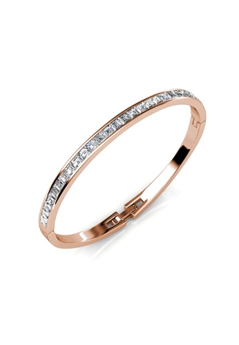 Buy Her Jewellery Chic Bangle Rose Gold Crystals from
