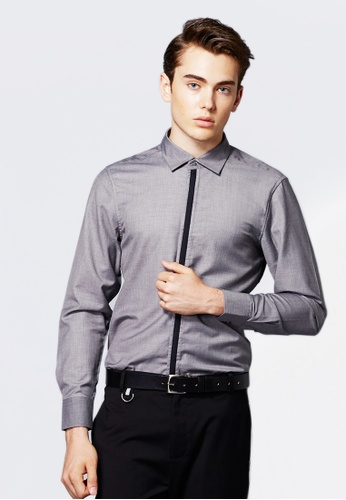 Life8 grey Formal Long-Sleeved Shirts-11120-Grey LI283AA0FIJNSG_1