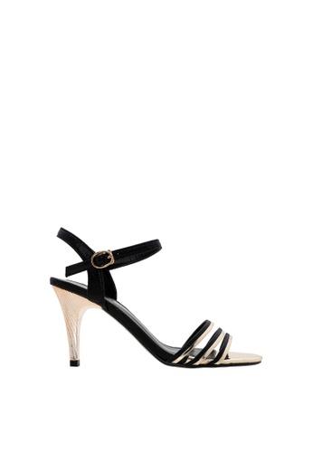 SEMBONIA black SEMBONIA Synthetic Leather Heels (Black) 95E86SHBA42DA3GS_1