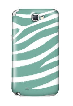 Blue Zebra Print Glossy Hard Case for Samsung Note 2